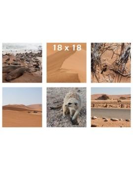 Panel de fotos impresas en tela 18x18 cm