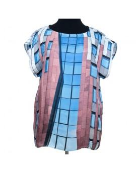 Silk blouse original print - Structure I