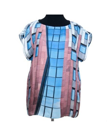 Blusa de seda estampado original Estructura I