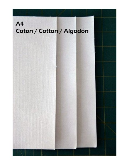 Inkjet fabric sheets, cotton, A4