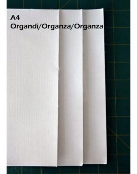 Inkjet fabric sheets, silk organza, A4
