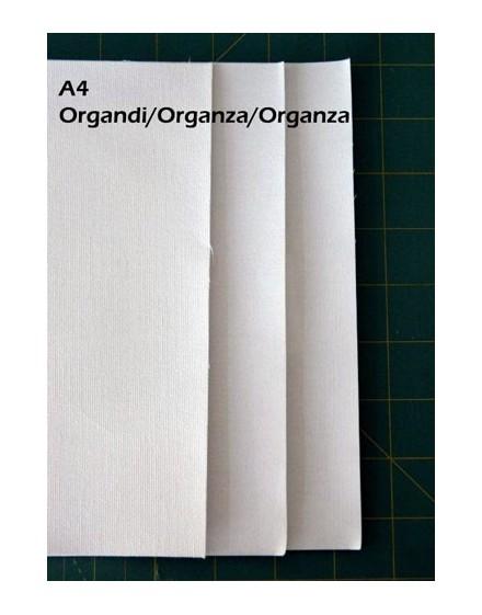 Hojas de tela para imprimir, organza de seda A4