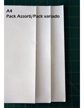 Pack assorti feuilles de tissu à imprimer A4, coton, soie et organdi