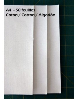 Pack 50 Feuilles de tissu à imprimer pour professionnel 50 feuilles A4 coton