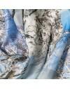 Foulard de soie Branches avec Neige