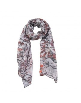 Silk scarf Autumn Leaves