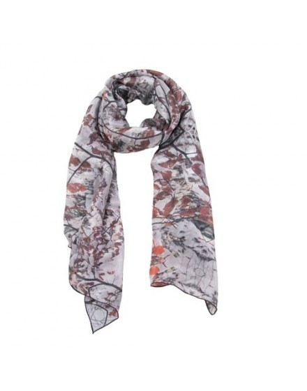 beautiful silk scarf Autumn leaves