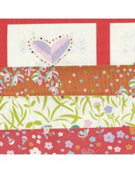 Lote de 4 fat quarters, tela ecológica infantil Yay Day de Birch Fabrics