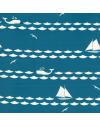 Lote de 8 fat quarters, tela ecológica infantil Set Sail de Birch Fabrics