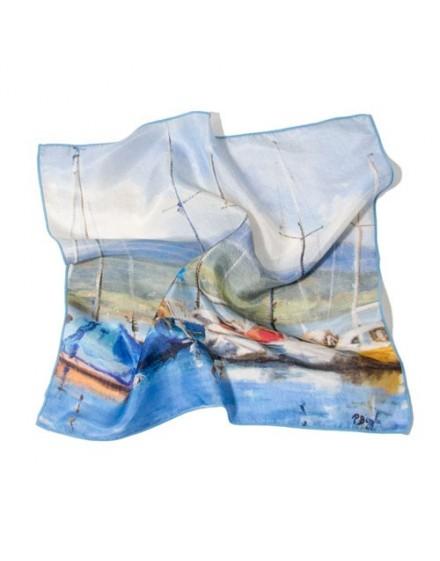 Pañuelo de cuello de seda - Rayo de sol de Pier Buyle