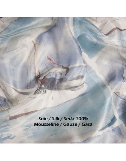 Custom printed silk fabric by the meter - silk Gauze
