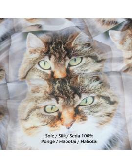 Tissu soie pongé imprimé personnalisé au mètre
