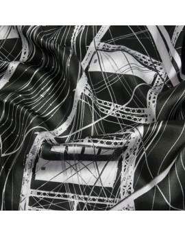 Custom printed silk charmeuse fabric by the meter