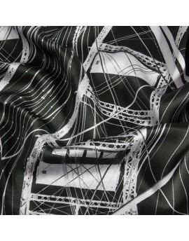 Raso de seda estampado personalizado por metro