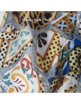 Twill de seda estampado personalizado por metro