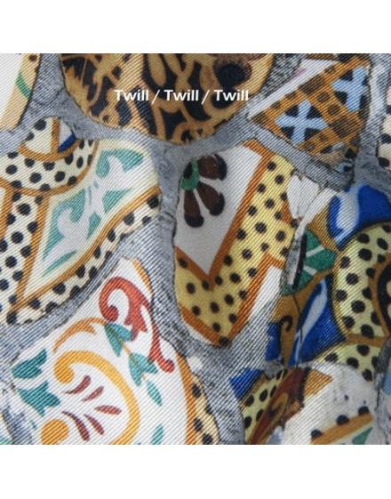 Custom printed silk fabric by the meter - silk Twill